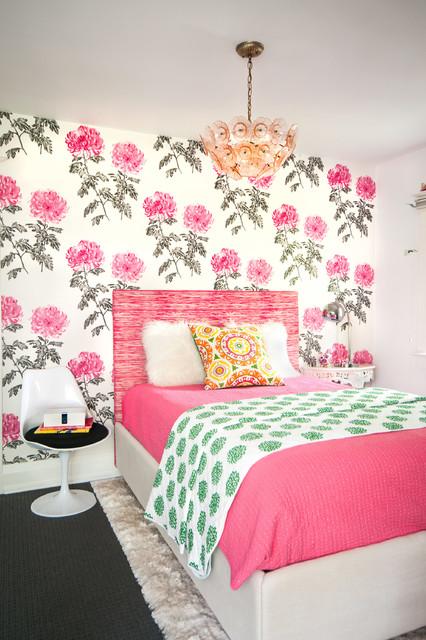 цветочные принты в спальне
