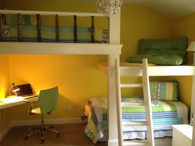 Кровать чердак на два с половиной этажа