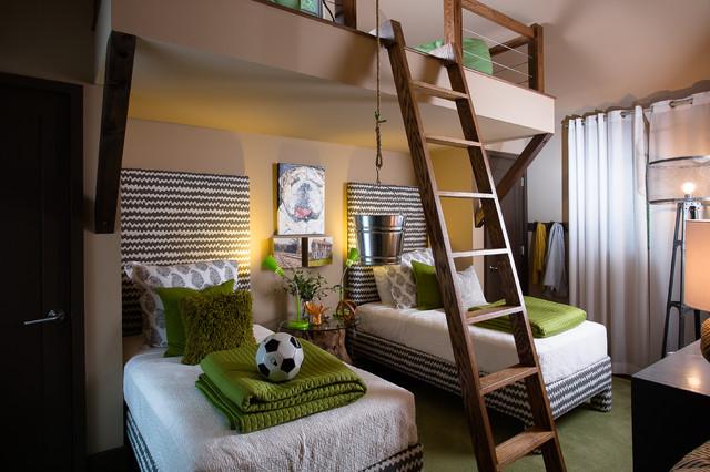 Деревянная кровать чердак для мальчиков