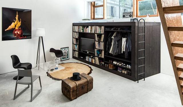 Интерьер однокомнатной квартиры студии (7)