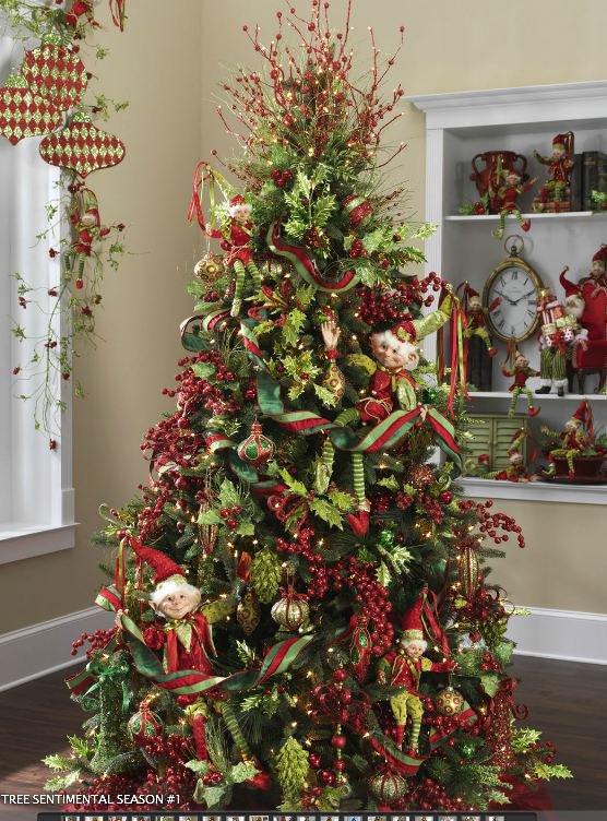 Как украсить елку в традиционной цветовой гамме