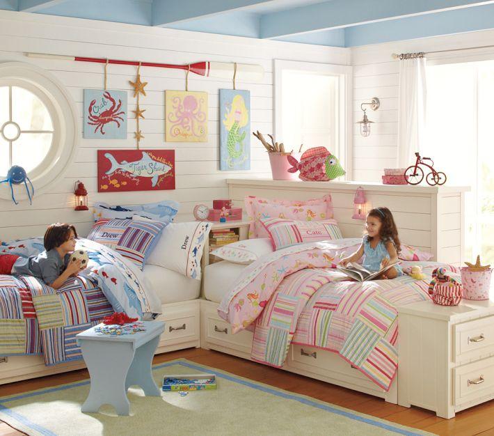 Одна светлая комната для разнополых детей