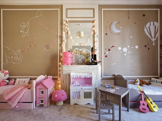 Дизайн комнаты для разнополых детей в нейтральных тонах