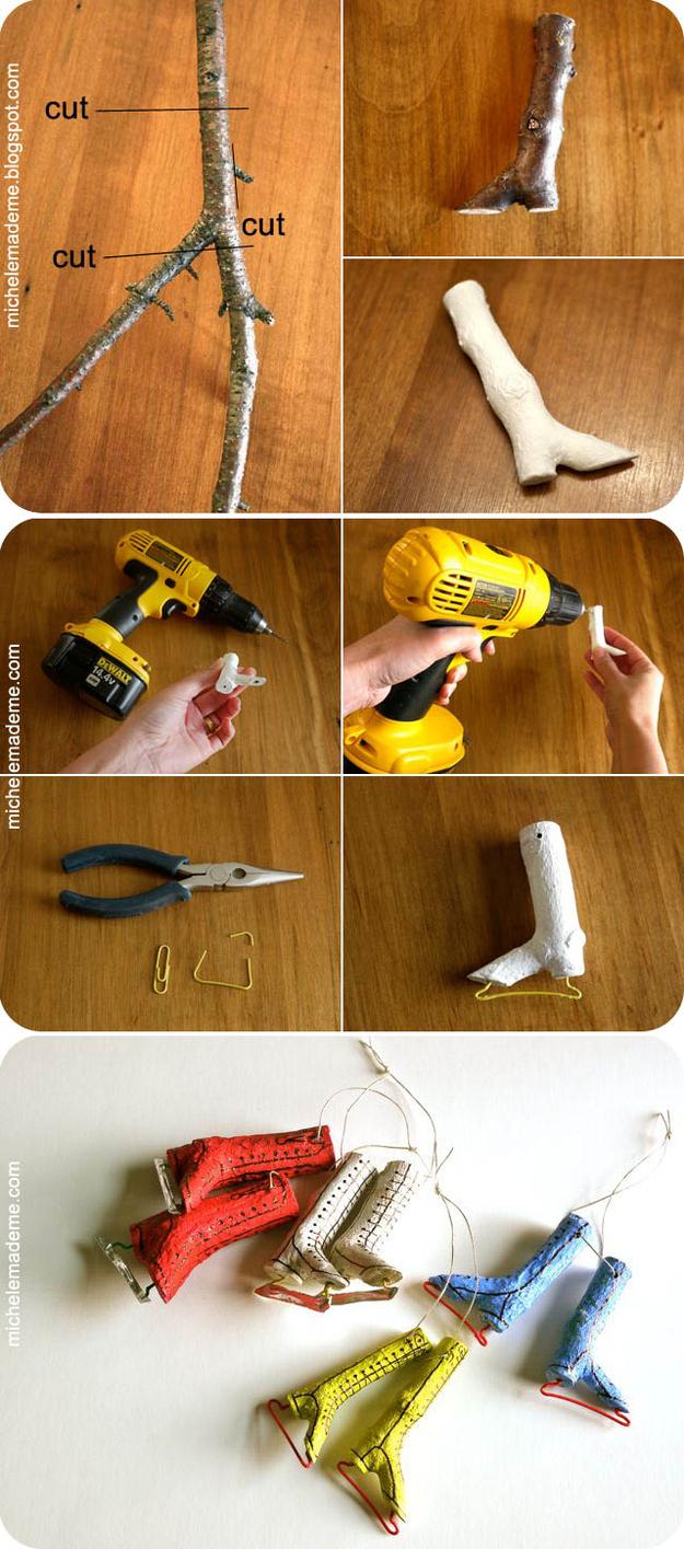 изумительная новогодняя елочная игрушка своими руками из прутиков