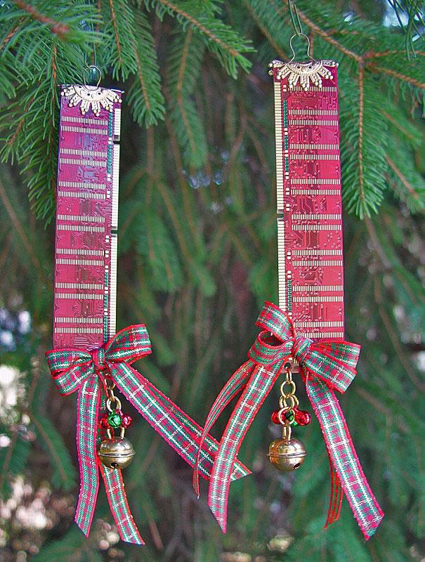 новогоднее украшение своими руками из планок памяти