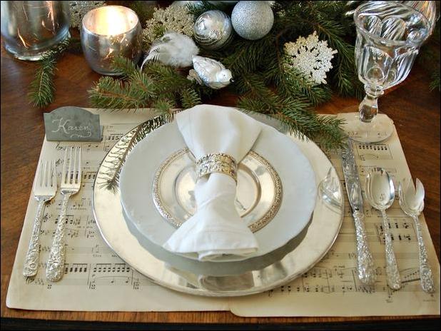 """Новогоднее оформление стола - """"Блеск"""""""