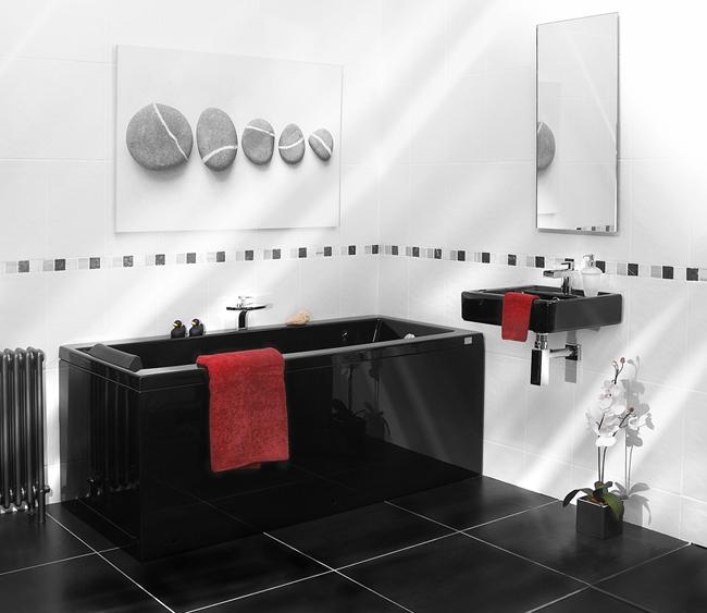Акриловая ванна в черном цвете