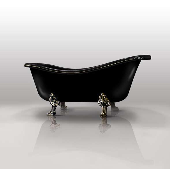 Изящная черная ванна
