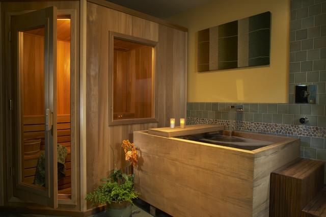 ванная из дерева на фото 2