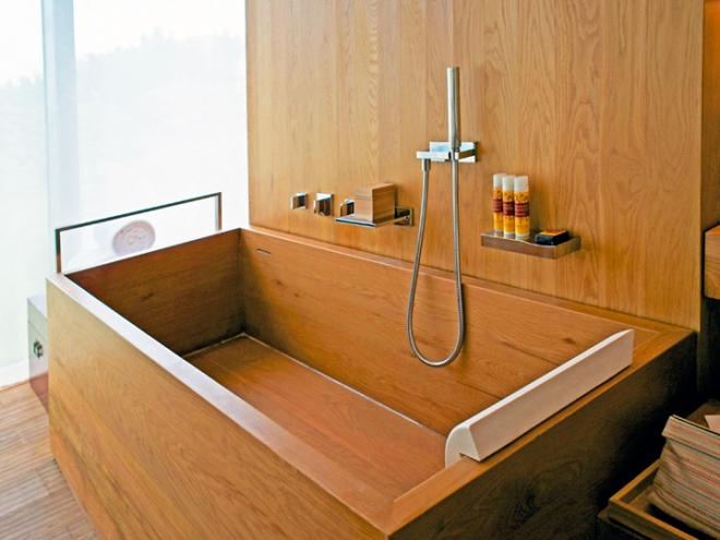 ванная из дерева на фото 14