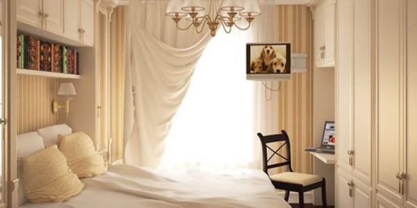 Дизайн маленькой спальни (15)