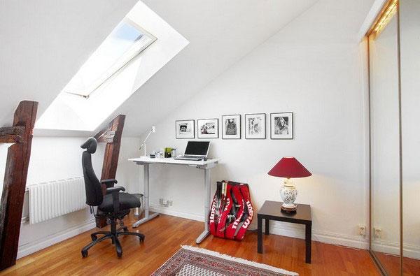 Маленькой кабинет на мансарде