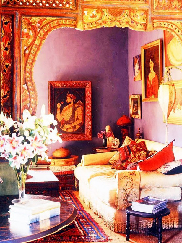 Интерьер в индийском стиле - аксессуары