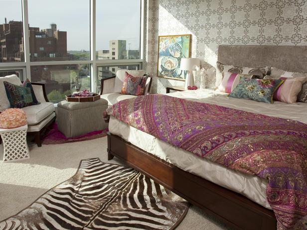 Спальная комната в индийском стиле
