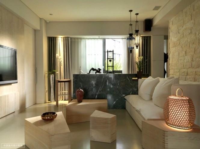 дизайн современной гостиной в восточном стиле