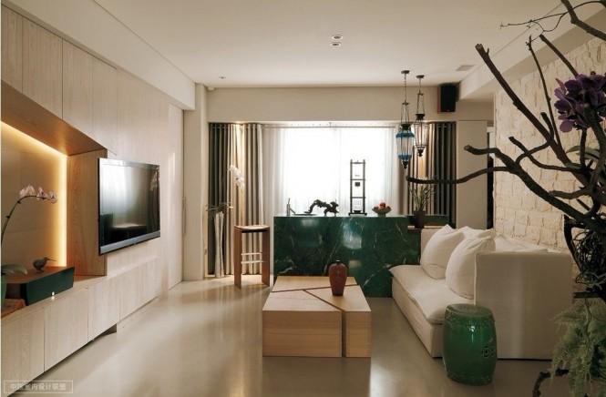 Современная гостиная в восточном стиле