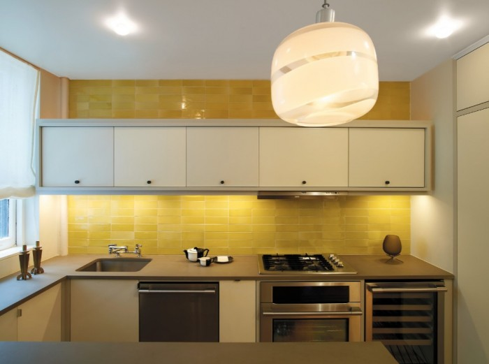 Ярко-желтый кухонный фартук