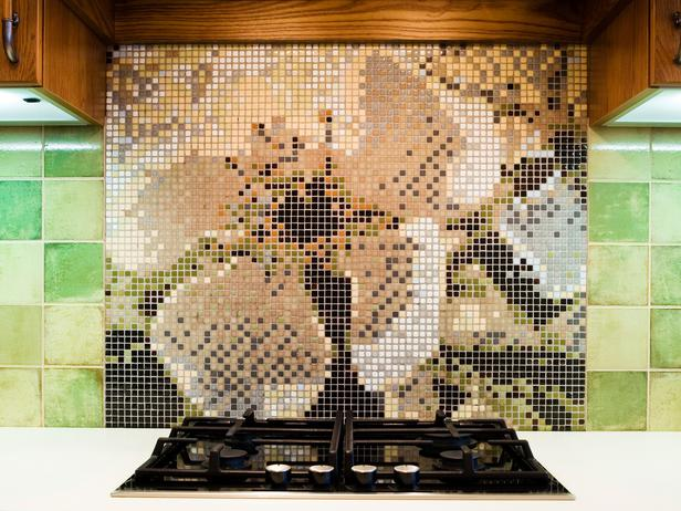 Как сделать фартук из мозаики видео