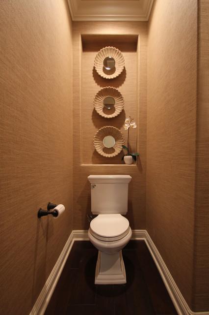 Классно оформленная ниша в туалете