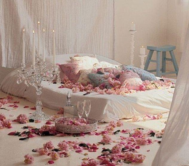 романтический интерьер спальни