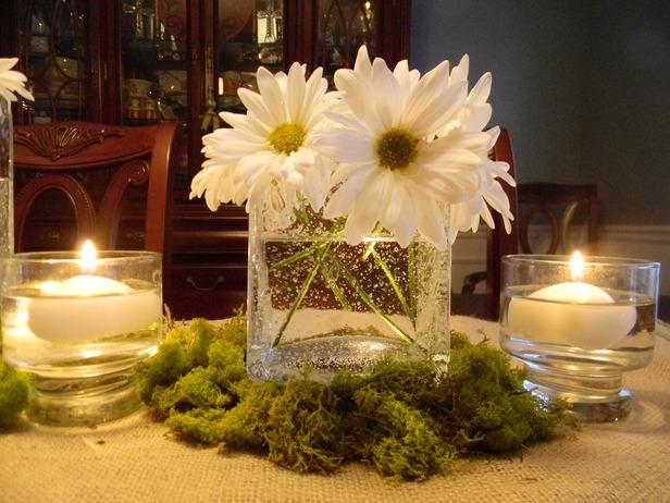 Декор стола для романтического ужина