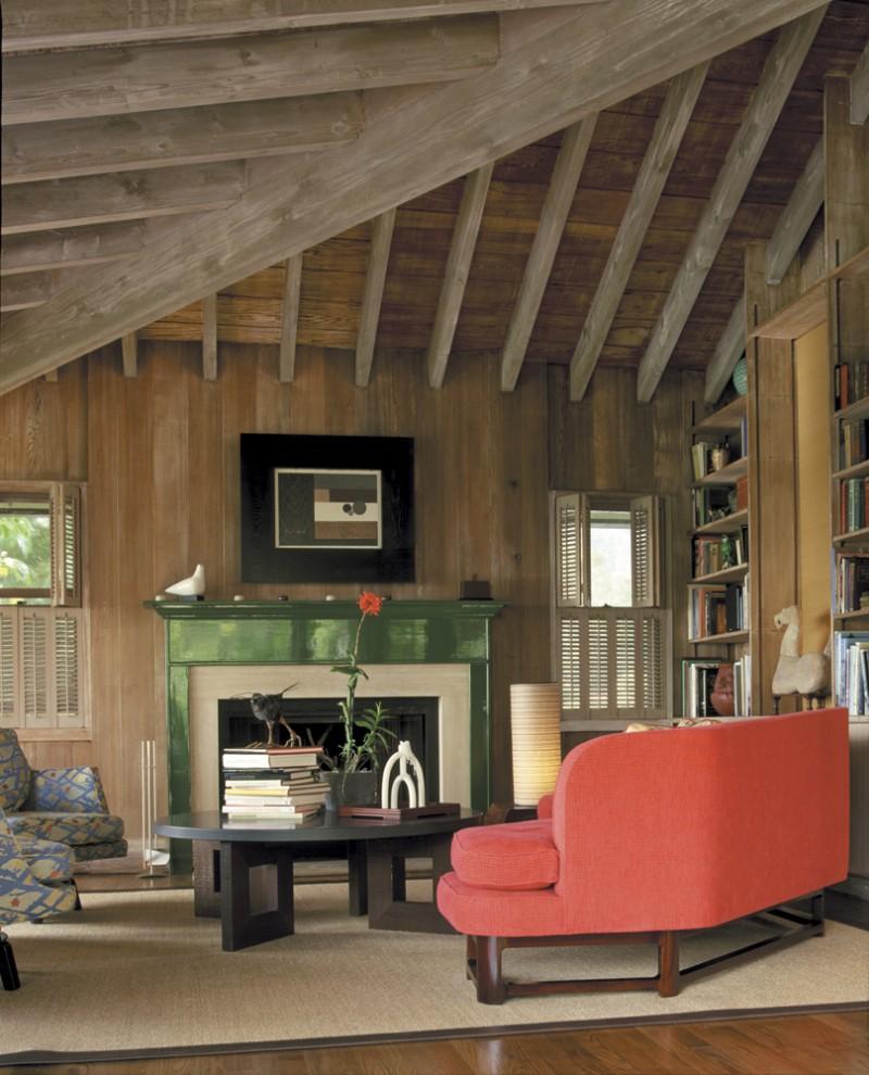 оформление деревянного потолка