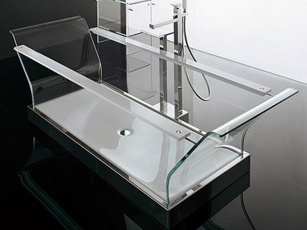 Прозрачная ванна Novellini
