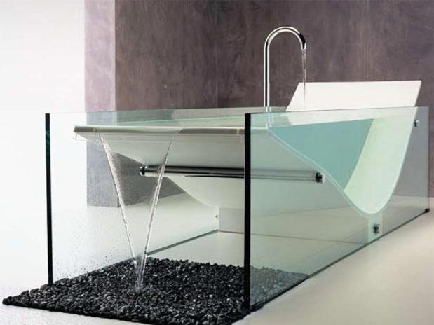 Ванна из стекла Omvivo Le Cob