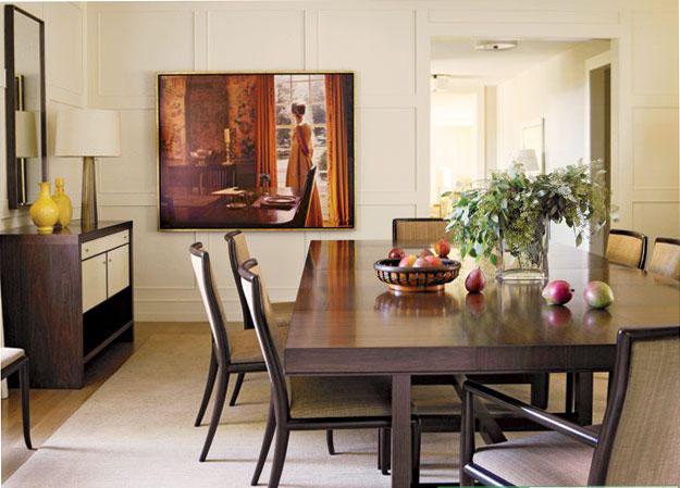 интерьер столовой комнаты в стиле бидермейер