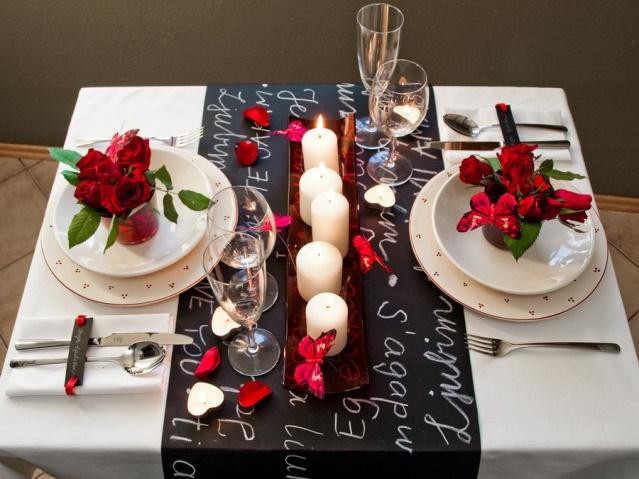 праздничный стол на день святого Валентина