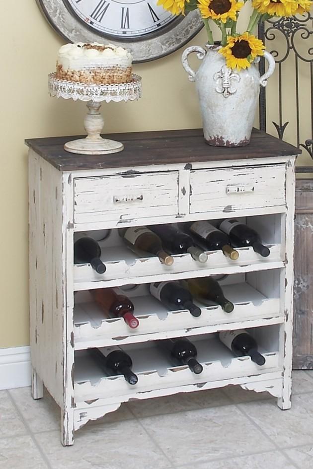 Интересный винный шкаф из старого комода