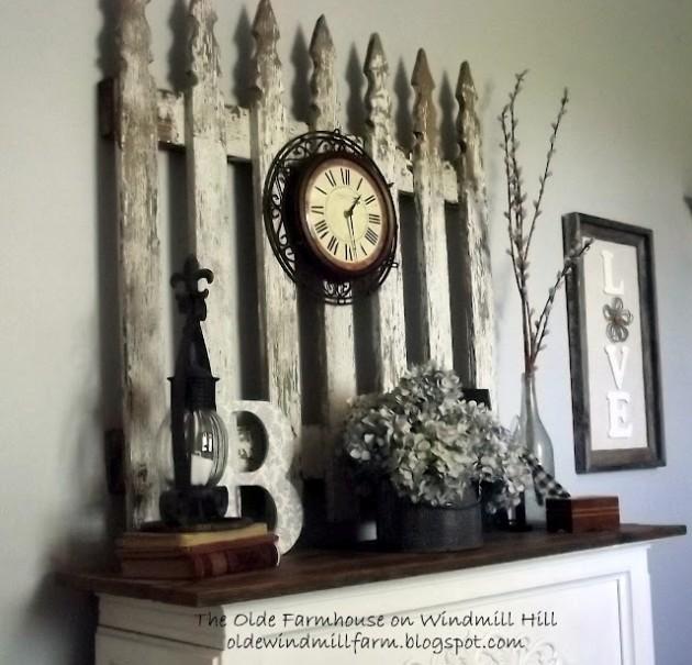 Декоративный элемент из старого забора