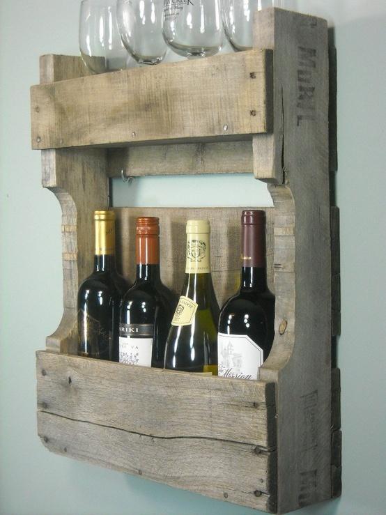 Полочка для вина из старого поддона