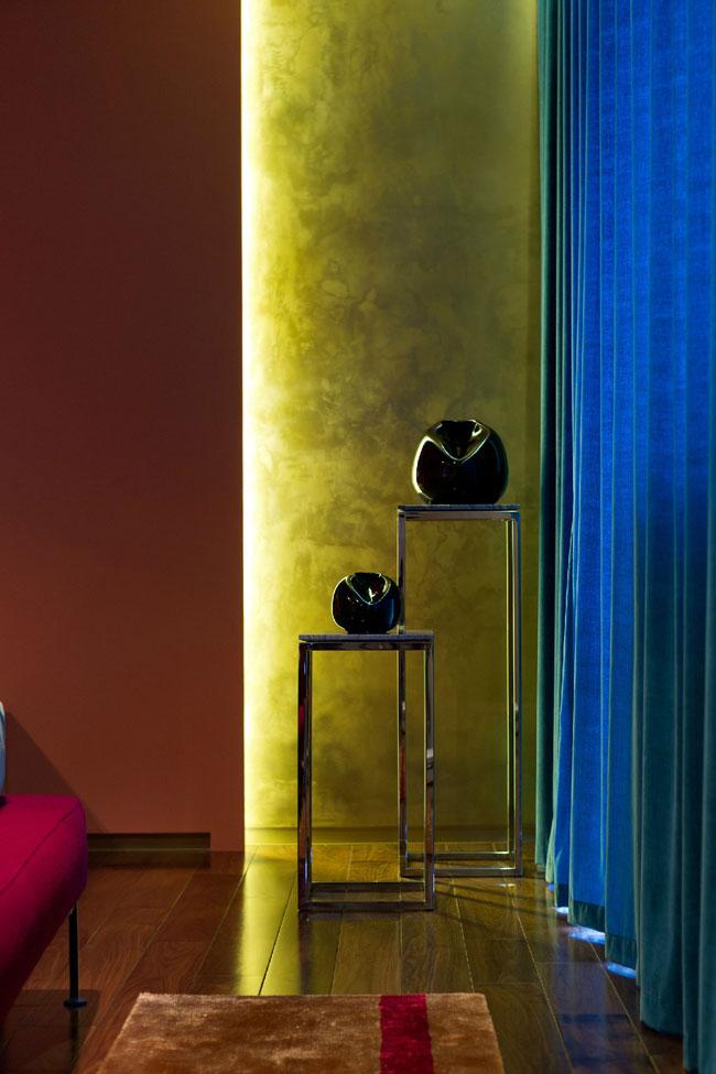 Декорирование квартиры в синем цвете