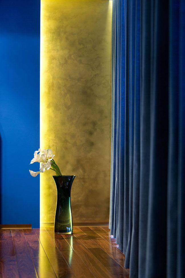 Декор квартиры в синем цвете