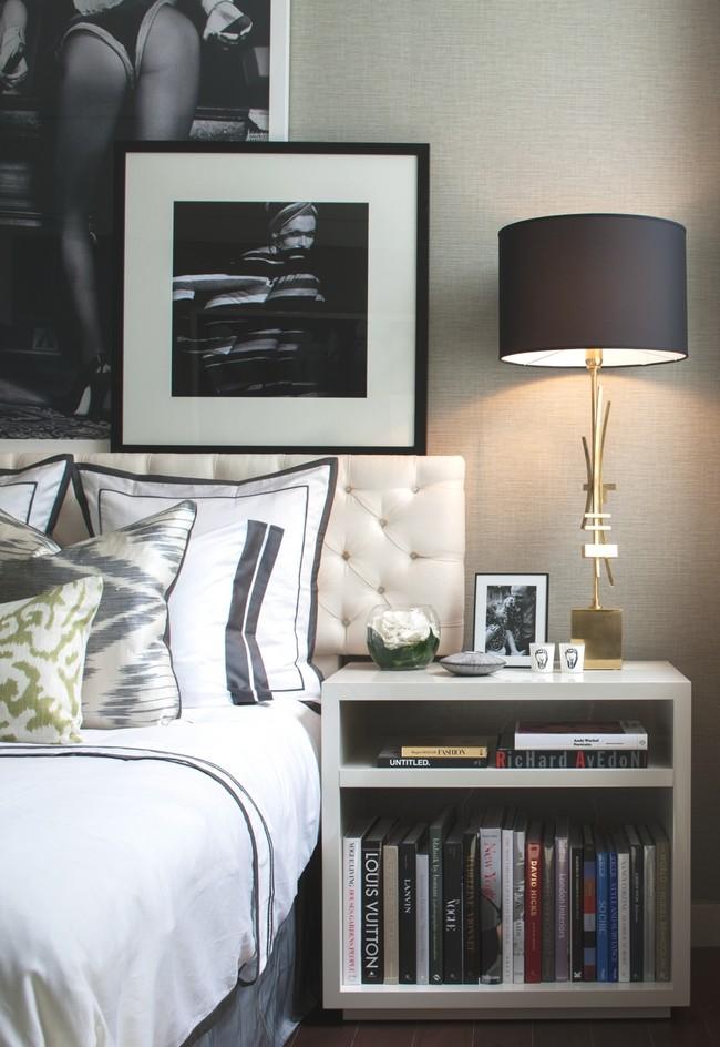 интерьер спальни - журнальный столик
