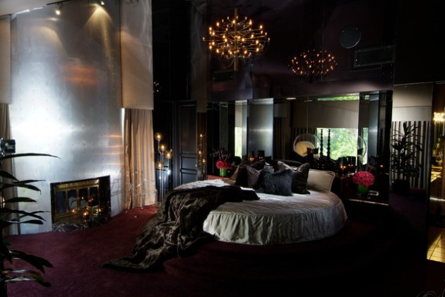 Круглая кровать — изюминка (13)