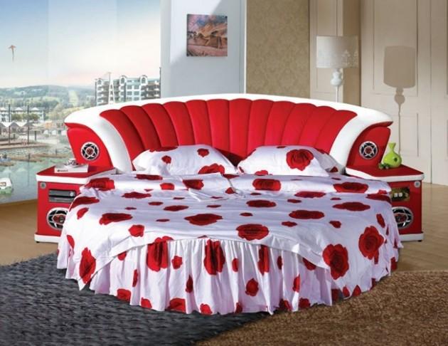 Круглая кровать — изюминка (16)