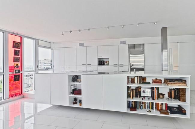 переделка трехкомнатной квартиры - зона кухни