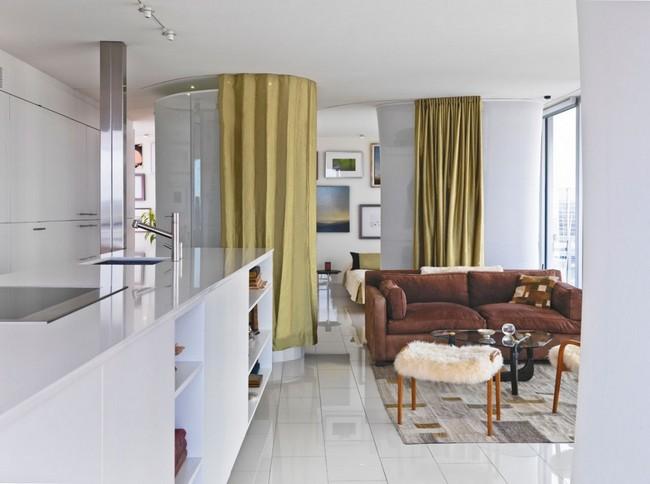 переделка трехкомнатной квартиры - кухня и душ