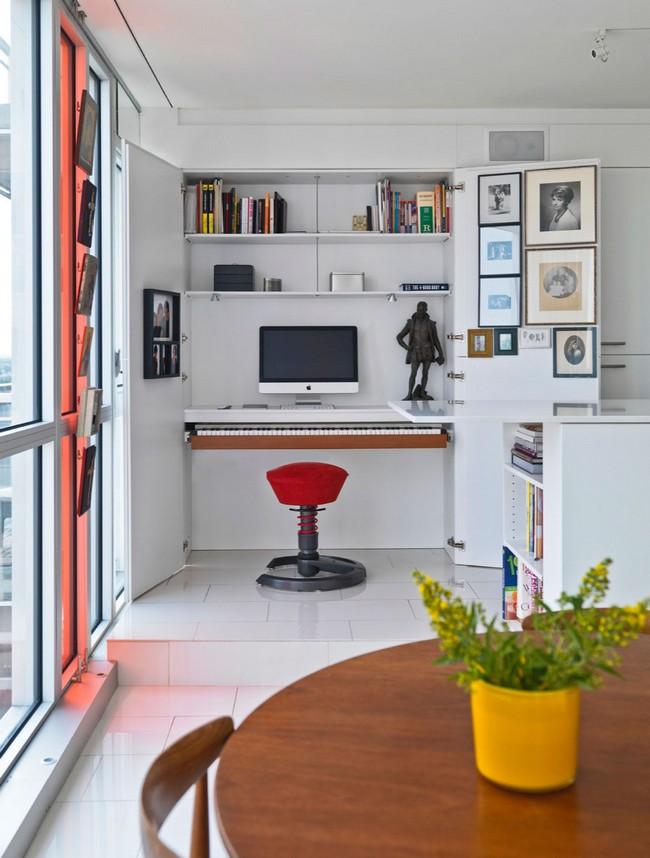 переделка трехкомнатной квартиры - домашний офис