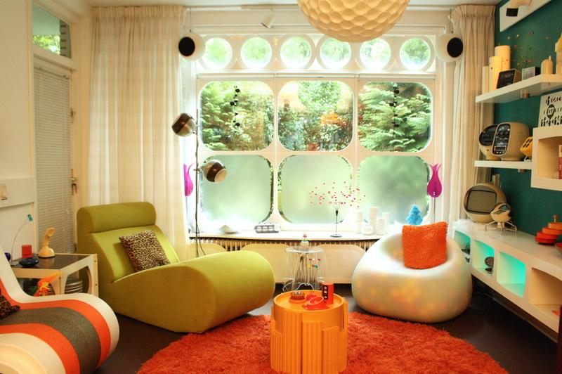 Футуристический интерьер гостиной комнаты