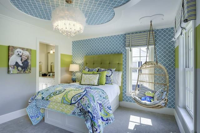 Спальня с подвесным креслом 3