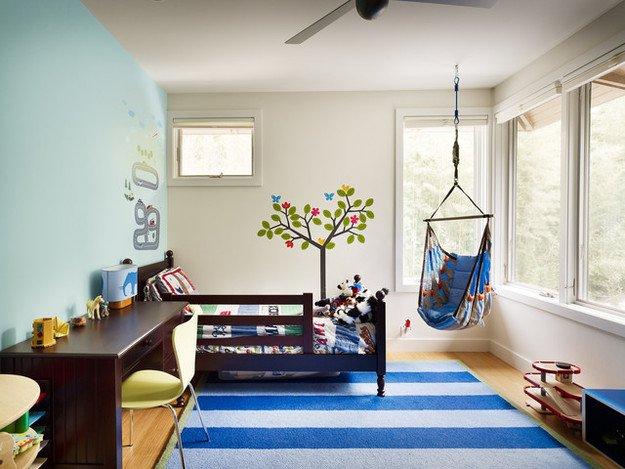 Спальня с подвесным креслом 6