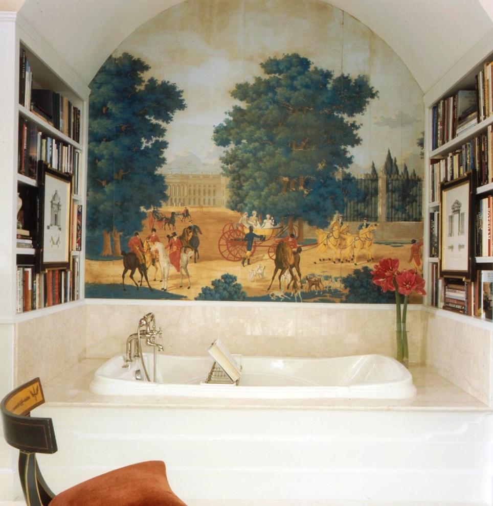 Отделка ванной обоями (3)