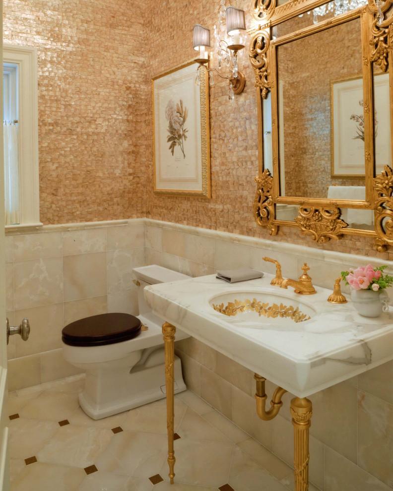 Отделка ванной обоями (8)