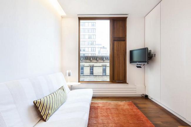 интерьер гостевой спальни в элегантной квартире