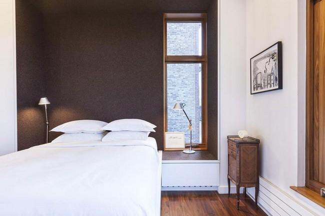 интерьер спальни в элегантной квартире