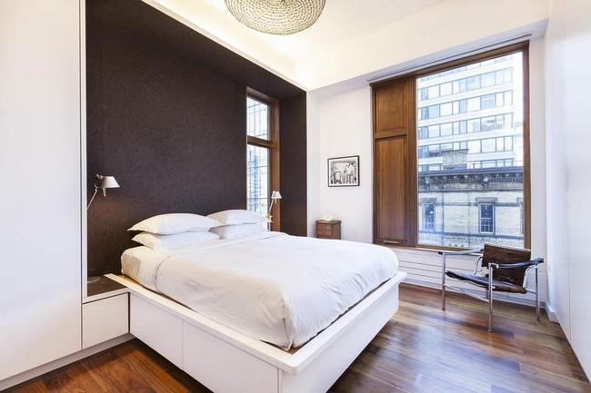 Интерьер элегантной квартиры в Сохо - спальня