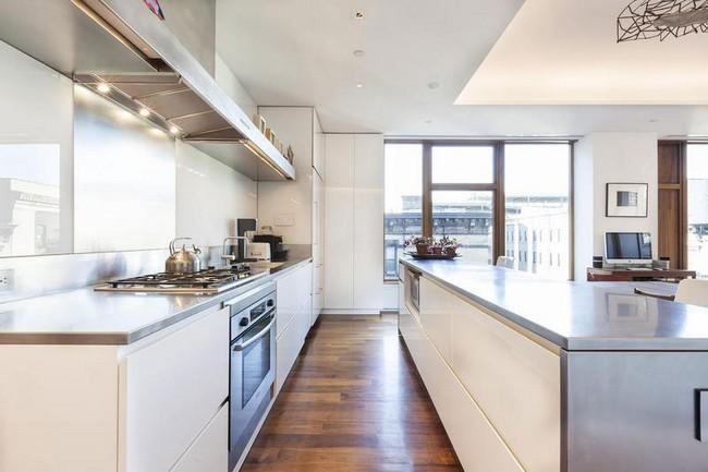 кухня в элегантной квартире